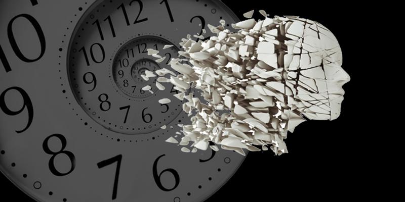 orologio a spirale senza lancette risucchia frammenti