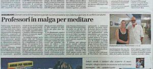 articolo sul giornale di Verona tutti in malga per meditarerebirthing - meditazione - comunicazione nonviolenta -